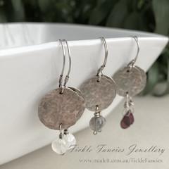 Luna Drops - Silver and Gemstone Earrings
