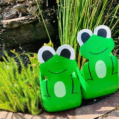 Freddo the Frog Go Cart Tyre Pot Plant Retro Revival Recycle