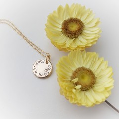 Forever In My Heart - Gold Fill Necklace