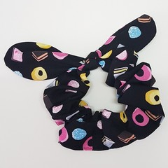 Sugar and candy bow scrunchie