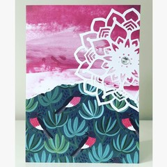 Pink birdies card