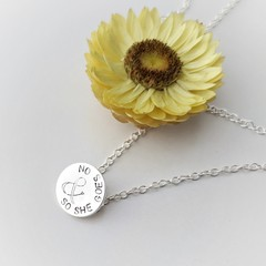 & So She Goes On - Sterling Silver Necklace
