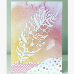Flower feather card
