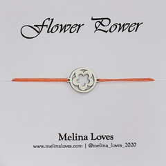 Bracelet - Flower Power - Stainless Steel
