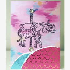 Elephant carousel card