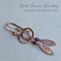 Little Loops Copper and Gemstone Dangle Earrings