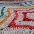 Baby rainbow sparkle star blanket afghan crocheted soft acrylic