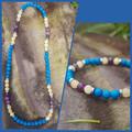 Gemstone Beaded Necklace and Bracelet Set