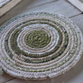 Small Rope Heat pads- Olive Greens