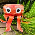 Oggy the Octopus Go Cart Tyre Pot Plant Retro Revival Recycle