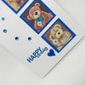 Birthday Card - Teddy Trio on Turquoise
