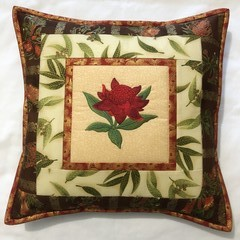 Australiana cushion cover - WARATAH