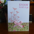 "CARD ""ENJOY THE LITTLE THINGS"" -  FEMALE  (FREE POSTAGE)"