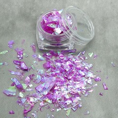"""Unicorn Mane"" Irridescent Foil Flakes - great for resin"
