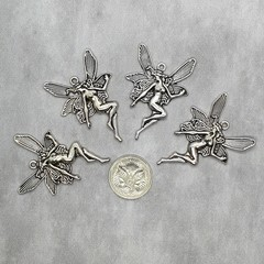10x Large Silver Fairy / Angel Pendants