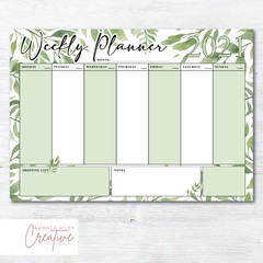 Print Your Own Weekly Planner - Greenery