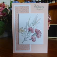 CARD -TO A WONDERFUL FRIEND - FEMALE  (FREE POSTAGE)