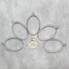 5x Silver Open Back Bezel Settings for resin
