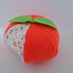 Orange fruit shaped pincushion