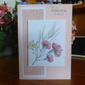 CARD -TO A WONDERFUL FRIEND - FEMALE  (FREE POSTAGE)