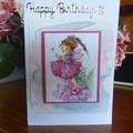 BIRTHDAY CARD - 3 YR OLD GIRL - (FREE POSTAGE)