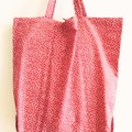 Foldable eco bag / PINK - small flower