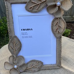 Jute decorated Photo Frame