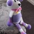 Dani Bear : crochet, toy, safe, OOAK, washable,  baby shower, girl