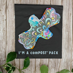 """10"""" moderate exposed core cloth pad (Leak Freak - Lips of an Angel)"""