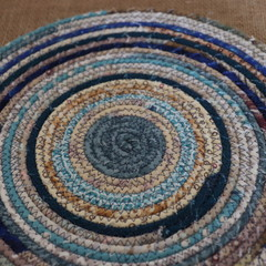 Large heat pads- Blue and cream mix
