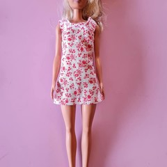 Red and white Barbie Doll mini dress