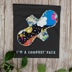 """10"""" moderate exposed core cloth pad (Versodile - Moonrise)"""