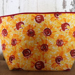 Large Toiletry bag- Sunflowers