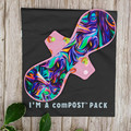 """12"""" Moderate exposed core cloth pad (Versodile - Moonrise)"""