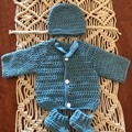 Preemie Cardigan Set