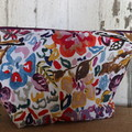 Large Toiletry bag- Painted Flowers