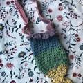 Mermaid Tail Kids Handbag | Rainbow Cotton | Inc Postage