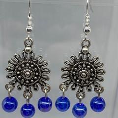 Blue Sun Earrings