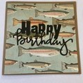 Happy Birthday Fishing Card