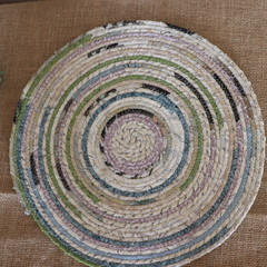 Extra Large Rope Heat pads- Green and Cream Mix