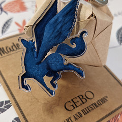 Blue Pegasus Keychain
