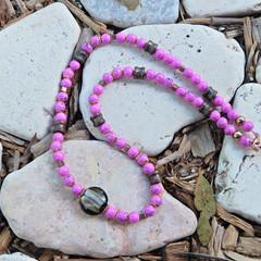 Fuchsia Pink Necklace