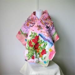 Felted Scarf Wool Silk Nuno Felt Wrap Shawl Pink
