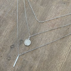 Australian Three pence Layered Multi Strand Necklace