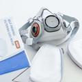 Respirator Gas Mask with organic vapour cartridges - half face, reusable