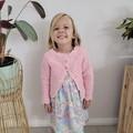 Crochet Celia Cardigan, Size 0-6m 6-12m 12-18m 1-2y 3-4y Baby Girls