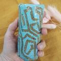 Ceramic vase - small, geo pattern
