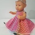 Baby Doll Pink Rainbow Fairy Dress with Headband