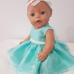 Baby Doll Mint Fairy Dress with Headband