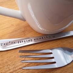 You're Forking Am, Fork,Anniversary, Wedding,Wife, Husband, Boyfriend, Girlfrie